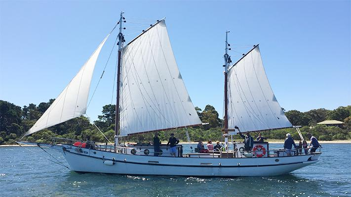 Gippsland Lakes Cruises departing Nungurner and Metung on PAM Pearl