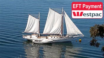 Confirm your Pearl Lugger Cruise Booking and pay in advance by EFT